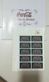 Coca Cola collector series stamps