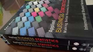 Applied Business Statistics 7th edition Wiley