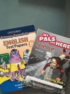 Primary 5 / 6 Science workbook & English assessment book