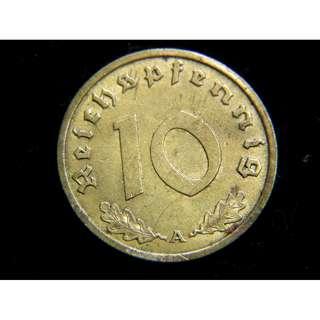1939年德國掏空夾面銅幣