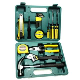 16PCS CAR REPAIR TOOL KITS SCREWDRIVER COMBINATION HOUSEHOLD SET HARDWARE TOOL BOX (COLORMIX)