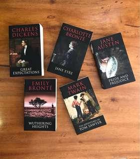 The classics (set of 5 $120)(Each $30) 一套$120, 一本$30