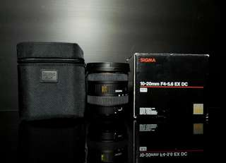 Sigma Wide Angle 10-20mm F4-5.6 For Canon