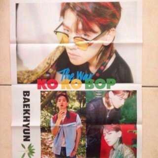 (WTS/WTT) [CLEARANCE] EXO Baekhyun KoKoBop Folded Poster