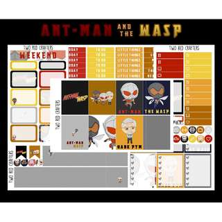 Ant Man and the Wasp || Planner Sticker Kit for Erin Condren Vertical Life Planner