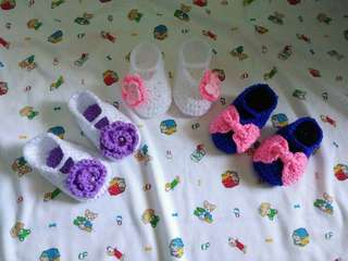 Crochet Baby Girl Shoes 🏵🌸