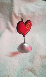 Heart Shape Memo Clip / Holder