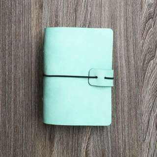 📗📗📗📗  INSTOCKS  Real Leather Planner SET 🌊Sea Green🌊 Midori Styled Traveler's A7 Planner, Journal