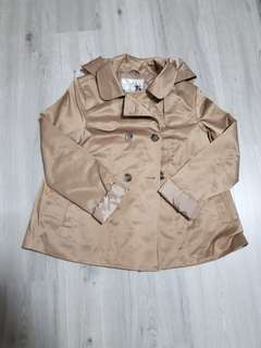 Brand new stylish short trench coat in khaki colour