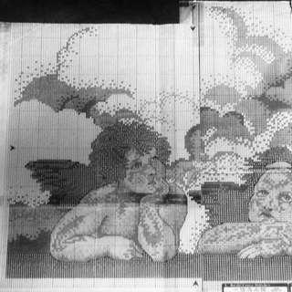 0009 Heavenly Cherub Cross-Stitch Pattern