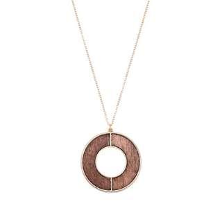 Circle long necklace