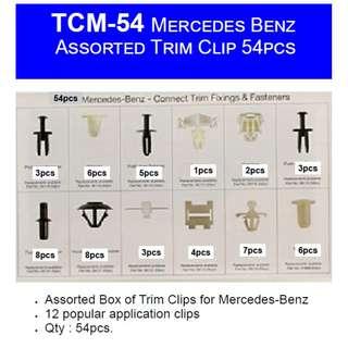 Car MB Mercedes Benz Panel Trim Clip - 54pcs Assorted