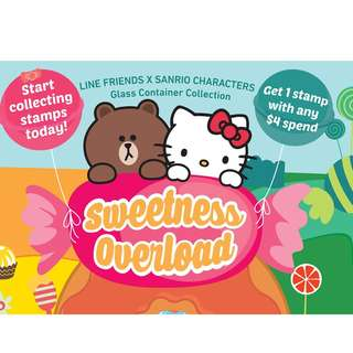 7-11 Glass Container Sanrio X Line , Sweetness Overload. Glass containers