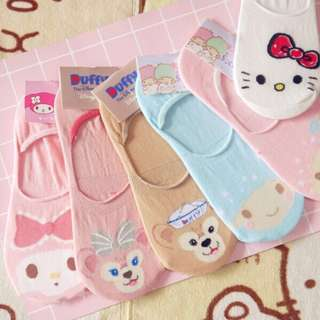 (P.O.)Disney/Sanrio Boat Socks