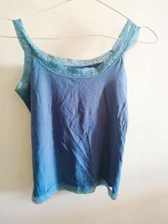 Blue Tank Top (Stretchable)