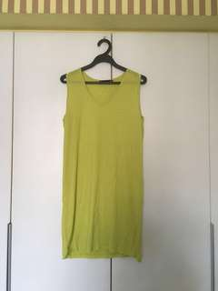 Brand new Spicy Color lime green tank dress