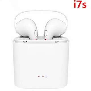 Mini i7S Twins Wireless Earbuds Bluetooth Earphone Stereo Headphone Phone Headset Handsfree With Mic For iPhone Android Phone
