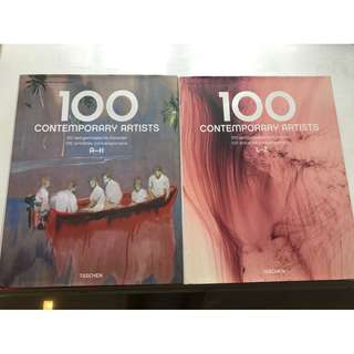 Beautiful Coffee Table Hardback 100 Contemporary Artists Book (two books A-Z set)