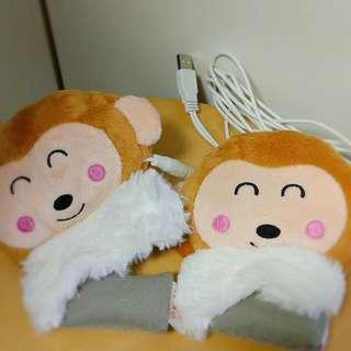 可愛猴子充電暖手寶