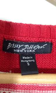 Authentic Betsy Johnson button up cardigan sweater size small