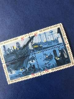 美國1973獨立戰爭 200年 波士頓事件 船 4全 方連