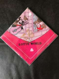 Lotte World 熊仔圖案手帕