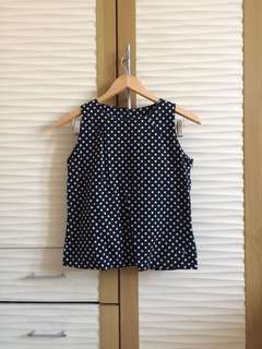 Black Polkadot Top