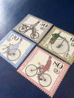 1985 德國古老單車 🚲 交通工具郵票4全