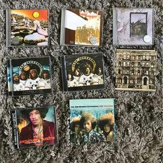 Led Zeppelin, Jimi Hendrix CD