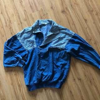 Unisex vintage bomber denim sweater top