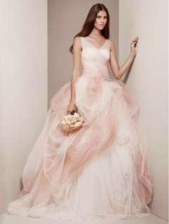 white by vera wang 拖尾婚紗 wedding dress pre wedding anthentic