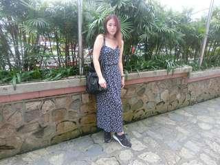 Summer Fashion Cotton Camisole Bohemian Print Beach Dress