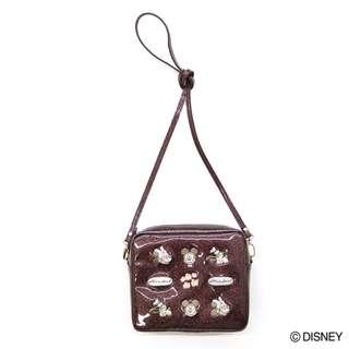 Japan Disney Accommode Disney Brown Spark Deco Mini Shoulder Bag