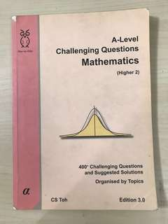 (CS TOH) A LEVEL CHALLENGING QUESTIONS MATHEMATICS