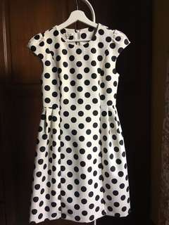 Vintage Polka-Dot Dress