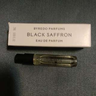Byredo Black Saffron sample