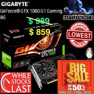 "Gigabyte GTX 1080 G1 Gaming 8G GeForce® ( Special Offer till 7 May..18.. Ends, Monday) "" Hurry Grab it while...stock last.."""