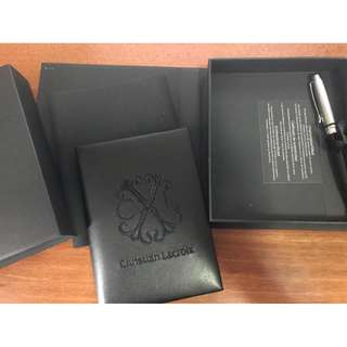 NEW CHRISTIAN LACROIX Pen and Notebook Gift Set - BEAUTIFUL !
