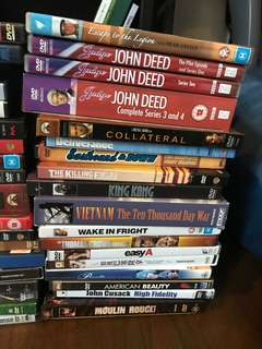 Collection of DVDs and Boxsets