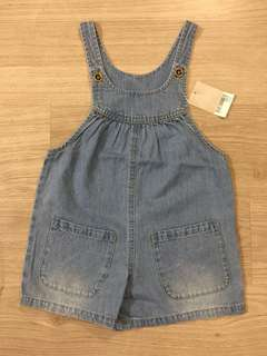 <NEW> Next direct baby girl's dungaree 女童短褲 工人褲
