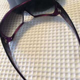Miu miu purple sunglasses authentic. Oversized wrap style