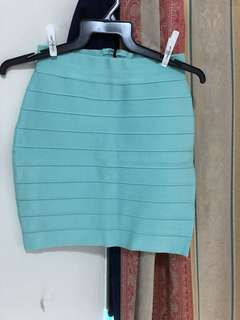 Bodicon Tiffany blue skirt