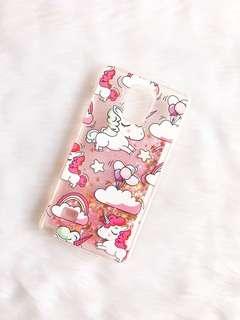 Samsung Note 4 case - Unicorn Glitter