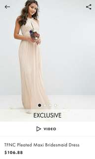 ASOS Tfnc nude color gown/dress
