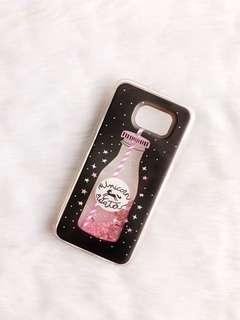 Samsung S6 case - Unicorn Water glitter