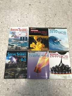 Social studies & Physics & Chemistry Books. Each book for $5.00
