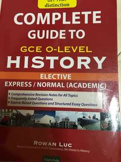 O level Elective History Guide notes