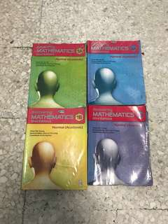 Sec 1 & 2 Maths Text Books. Each book for $5.00