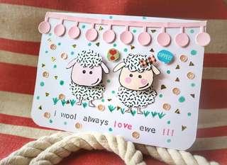 Little Sheeps Handmade Card Kartu Ucapan