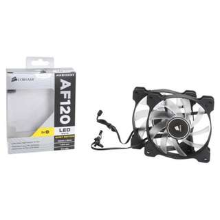 CORSAIR Air Series™ AF120 LED Quiet Edition High Airflow 120mm Fan - Twin Pack